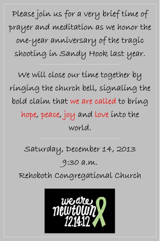 Newtown Anniversary 2013 Prayer Advertisment