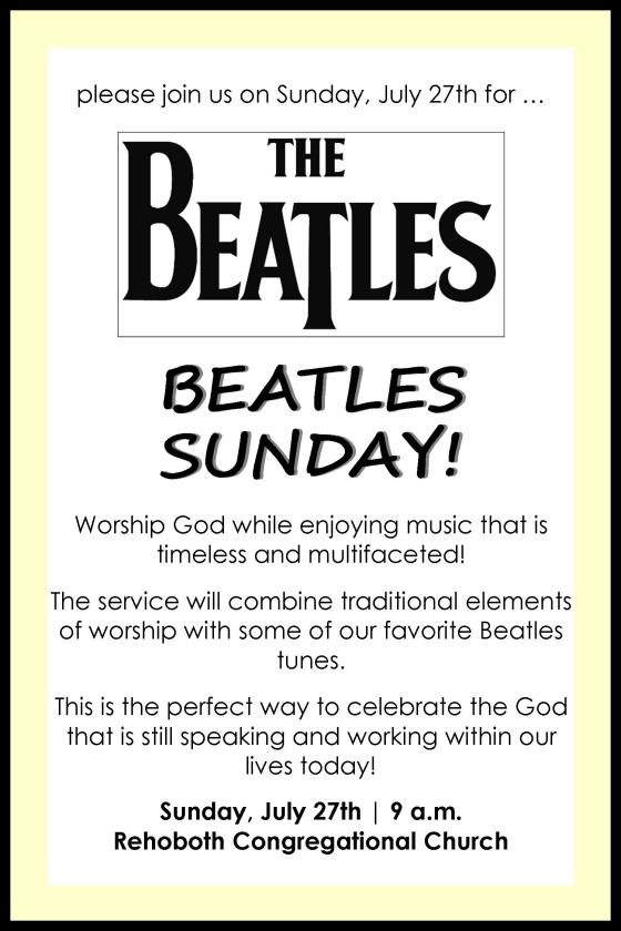 Beatles Sunday 2014 Advertisement